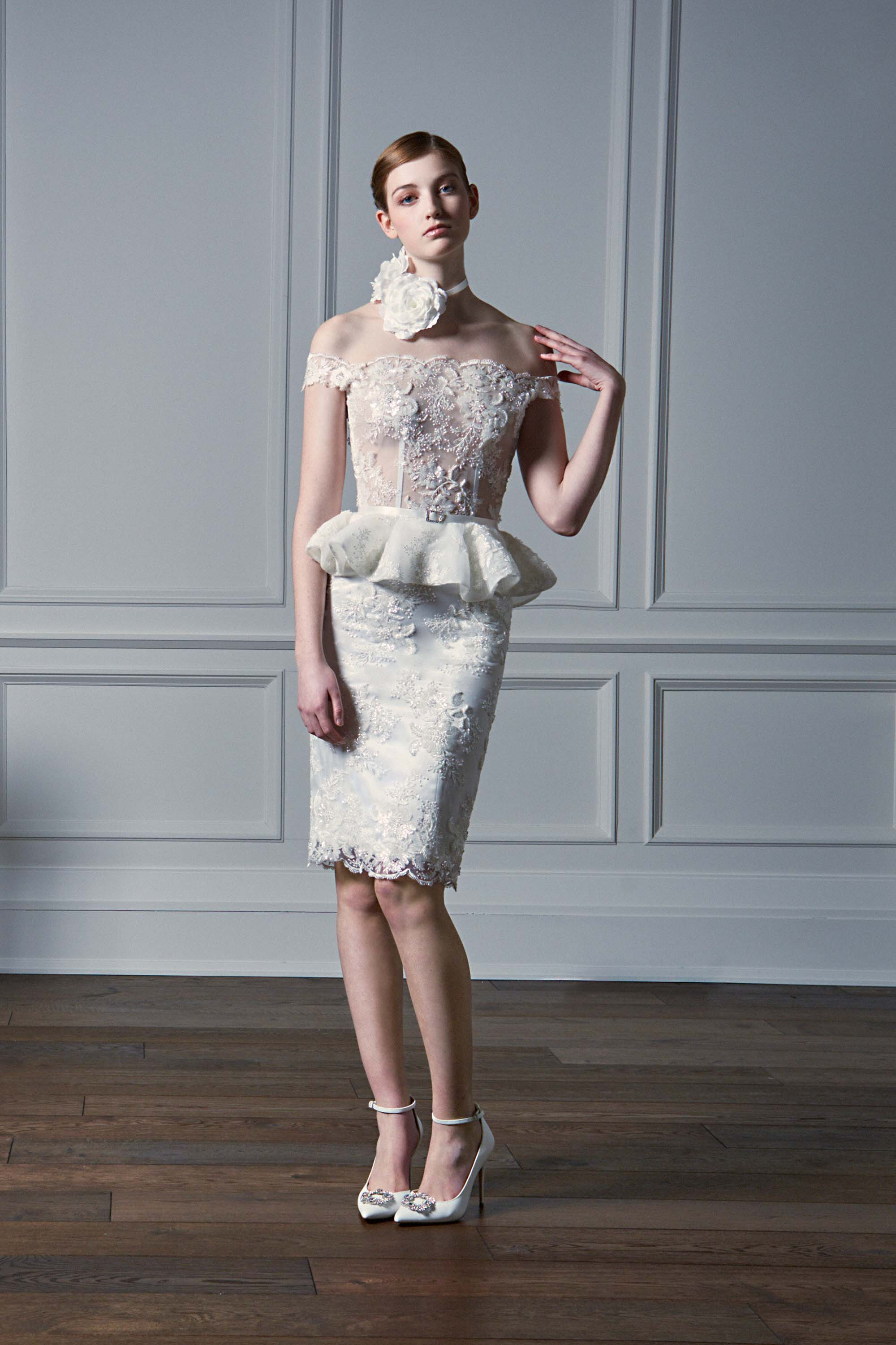 Evening dresses gowns collection in toronto kelly ng couture embroidered off the shoulder peplum cocktail dress white ombrellifo Image collections